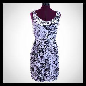 New KIMCHI SZ 2 silk DRESS 👗 BLACK & WHITE